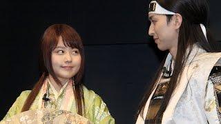 """有村架純、au新CMで""""かぐや姫""""に!松田""""桃太郎""""に逆プロポーズ? 「au新CM発表会」1 #Kasumi Arimura #Princess Kaguya"""