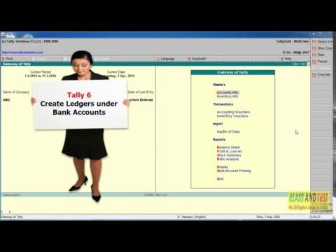 Tally 6 Creates Ledger under Bank Accounts