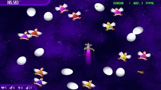 Chicken Invaders 4 - Ultimate Omelette - PC Gameplay FRAPS recorded in HD 1080P