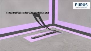 Purusline Living Concrete Installation Tutorial Wetroom Channel Drain
