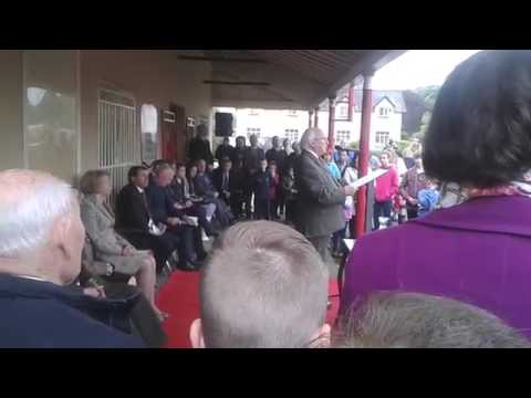 President Michael D Higgins in Tidy Towns competition winning village Moynalty, Co. Meath