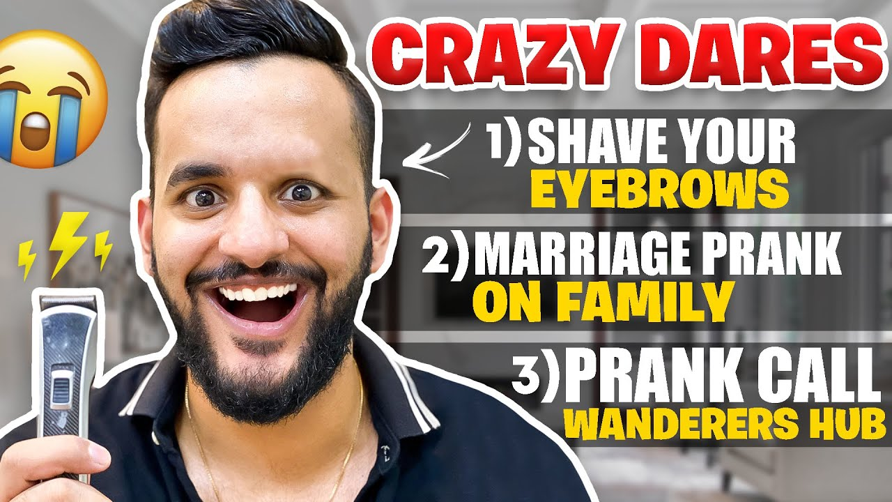Letting SUBSCRIBER'S decide a DARE for ME !! *Shaving my EYEBROW*