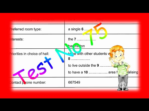 Ielts Listening Test From Real Exam 75 With Key 2016