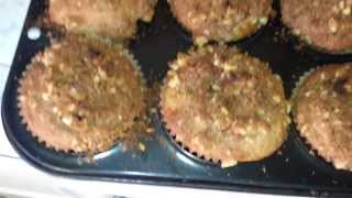 Danny's Banana Nut Muffins Complete With Praline Topping