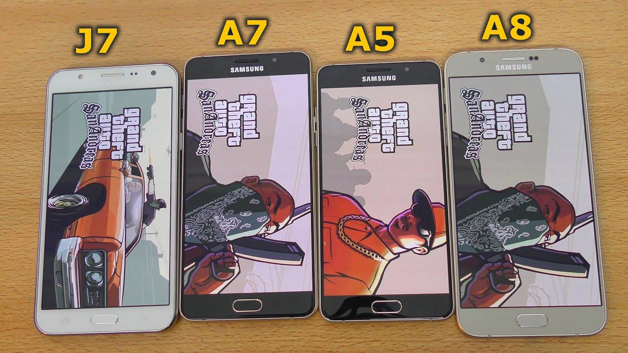 Samsung Galaxy A7 2016 Vs J7 Vs A8 Vs A5 2016