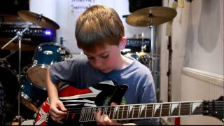 Repeat youtube video 11 Year Cameron plays Jerry C 's Canon Rock,