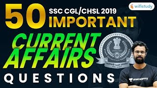 SSC CGL / CHSL 2020 | 50 Important Current Affairs Questions by Bhunesh Sir