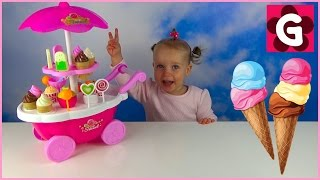 Gaby Pretend Play with Peppa Pig ICE CREAM Cart