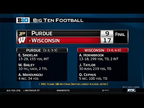 Purdue at Wisconsin - Football Highlights