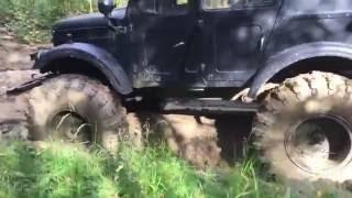 Катаемся с газ 69 на колёсах от БТР