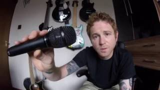 Zebrahead checks out Audio-Technica AT2010 condenser microphones on tour