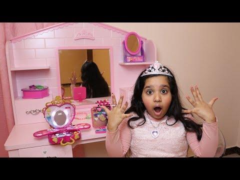 شفا تطلب من أمها مكياج !! shfa pretend play girl  makup