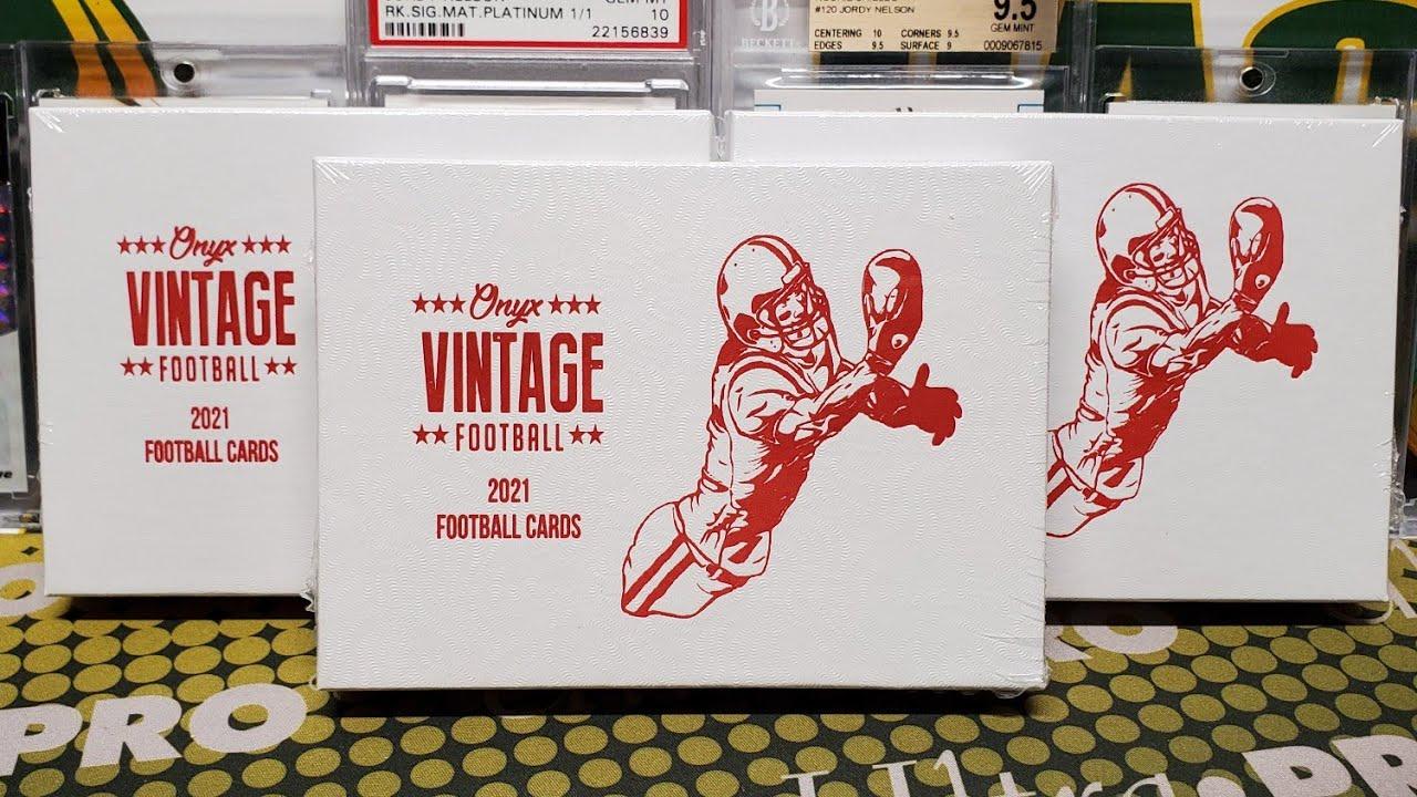 2021 Onyx Vintage Football Unboxing. 2 Autos per Box!