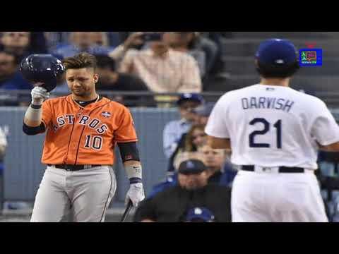 World Series Dodger fans boo Yuli Gurriel, who tips his helmet towards Yu Darvish_ARA Today latest N