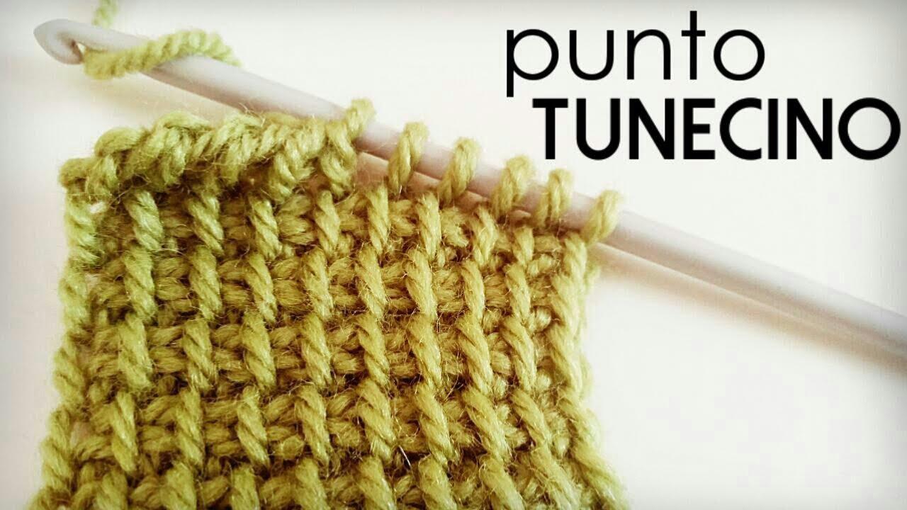 Punto Tunecino (Punto Básico o Punto Simple de Crochet Tunecino ...