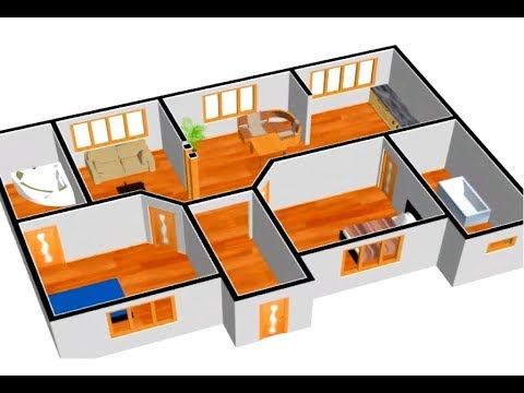 Small House Plan 1000 Sq Ft 2 Bedroom With American Kitchen 2019 Youtube