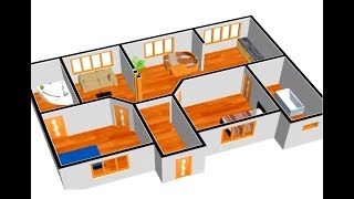 Small House Plan 1000 Sq Ft 2 Bedroom With American Kitchen 2019