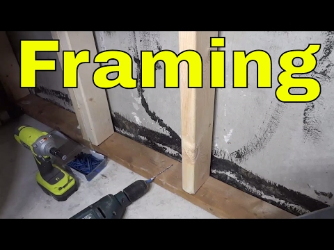 Attaching Basement Framing To A Concrete Floor-DIY