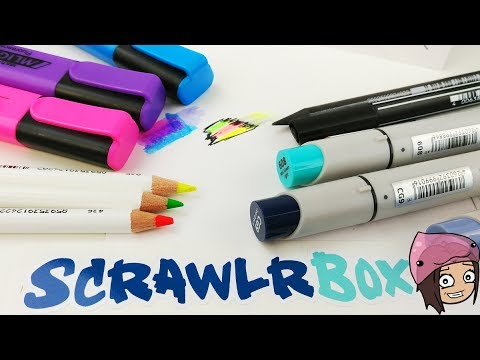 UNBOXING 2 SCRAWLRBOXES! Art Supplies Haul Subscription Box