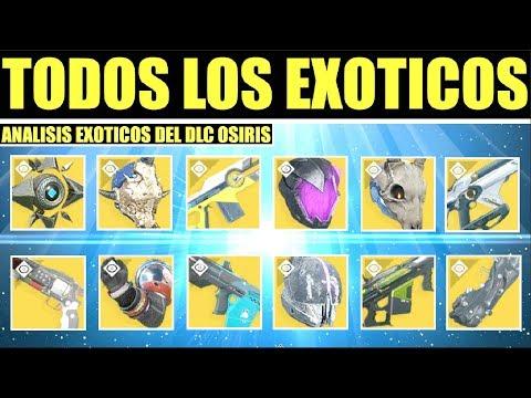 Destiny 2: Todos los Exóticos Nuevos: Armas & Armadura - Análisis de Ventajas   DLC de Osiris