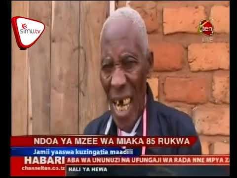 Mzee Wa Miaka 86 Afunga Ndoa Rukwa