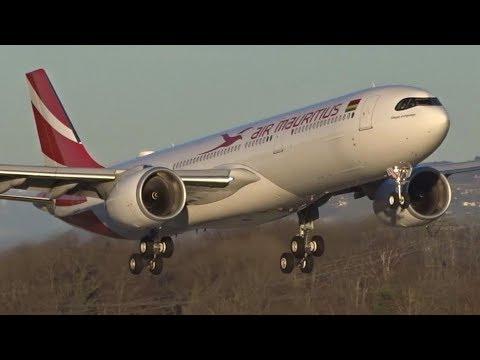 Air Mauritius Airbus A330neo Landing At Geneva/GVA/LSGG
