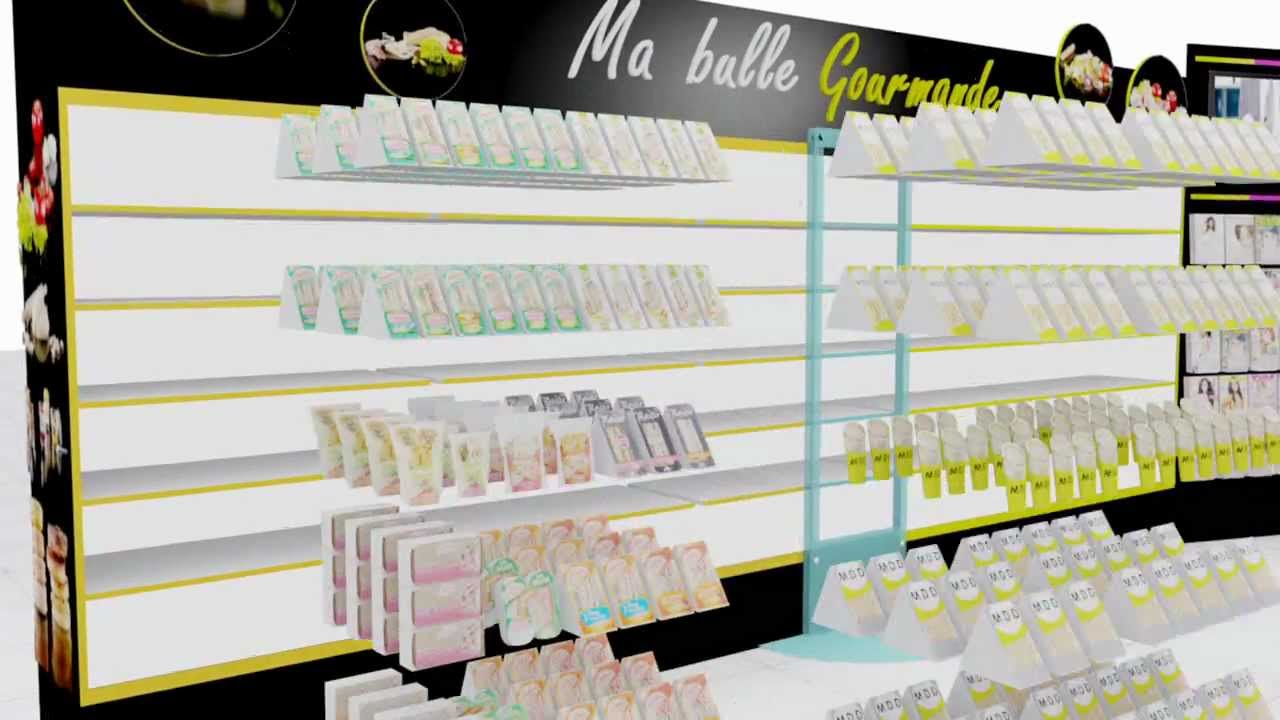 R alisation animation 3d agencement magasin youtube for Logiciel agencement 3d