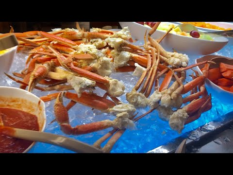 Đi Ăn Buffet  Lobster,snow crab legs,clams, crab legs cùng 2