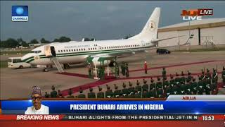 President Buhari Is Received By Officials In Jubilation Pt.1 | President Buhari Returns