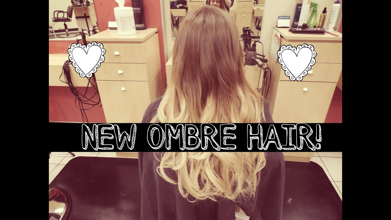 GETTING MY HAIR DYED BLONDE OMBRE VLOG - YouTube