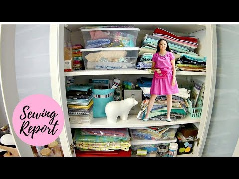 How BIG Should My Fabric Stash Be? | LIVE SHOW | SEWING REPORT