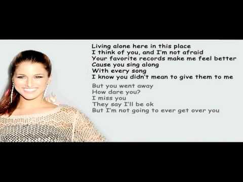 [Lyrics] Cassadee Pope - Over You [Lyrics On Screen] HD