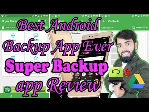 How To Make Backup On Android /Best Backup App Ever /Super Backup & Restore 2018