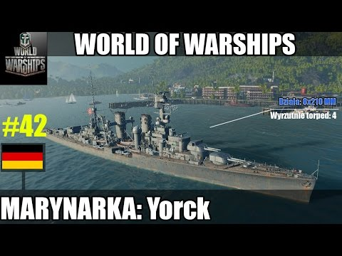 World of Warships: Yorck VII tier gameplay pl
