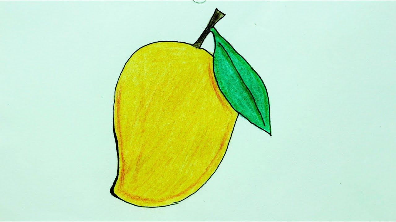 How To Draw Mango आम क स बन य How To Make Mango