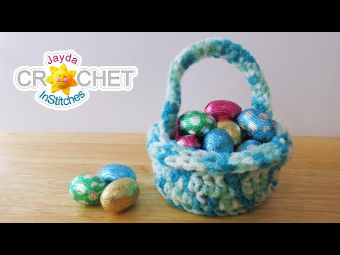 Miniature Spring Basket - What To Do With Variegated Yarn