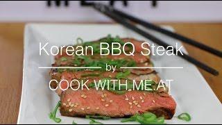 Korean BBQ Style Steak - Unbelievable Tasty & Juicy Grilled Bulgogi Rib Eye - COOK WITH ME.AT