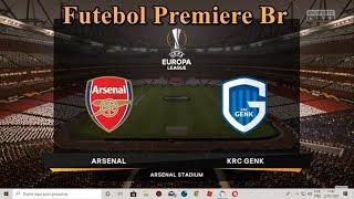 FIFA 19 Modo Carreira Uefa Europa League  Oitavos de Final 2°jogo Arsenal x KRC genk Gameplay PS4