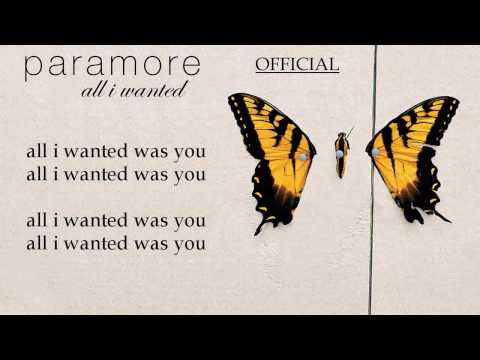 Paramore - All I Wanted OFFICIAL [Karaoke/Instrumental]