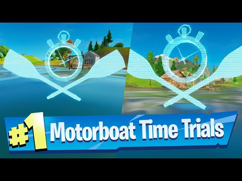 Complete A Motorboat Time Trial Location - Fortnite Battle Royale (Chaos Rising)