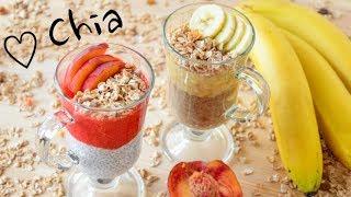 ЧИА пудинг ПОЛЕЗНЫЕ рецепты Два вкуса Chia pudding | смузи для похудения рецепты с фото