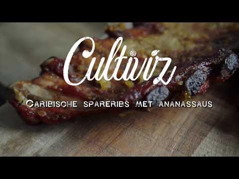 Caribische spareribs met ananassaus | Cultiviz