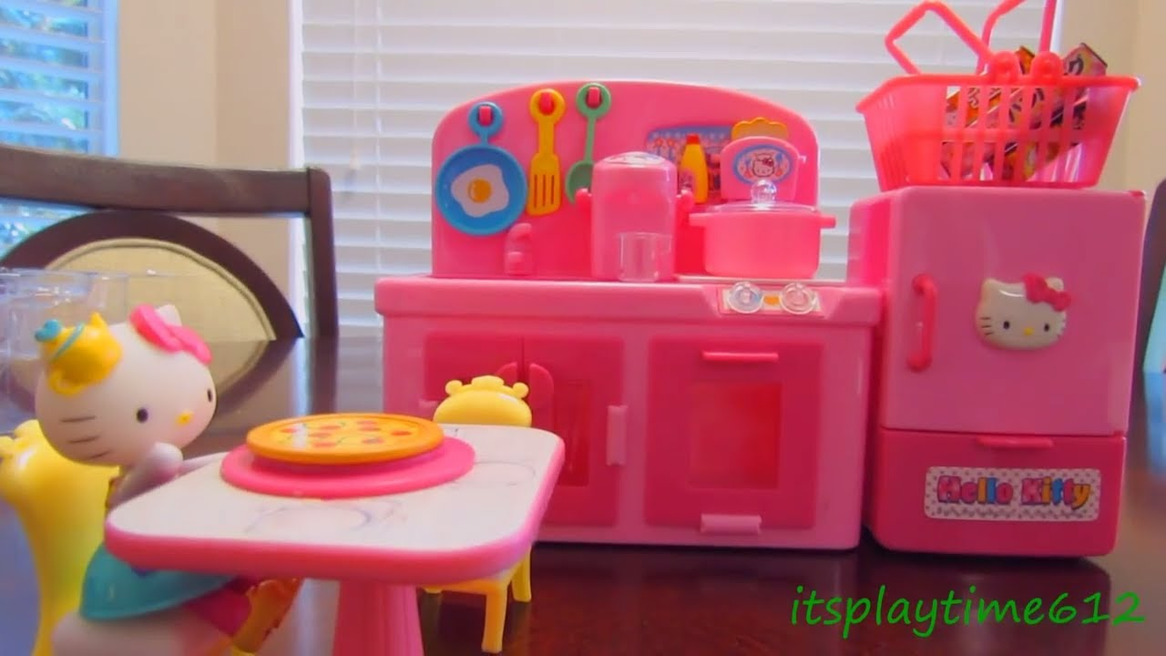 HELLO KITTY MINI KITCHEN PLAYSET Toys Review itsplaytime612
