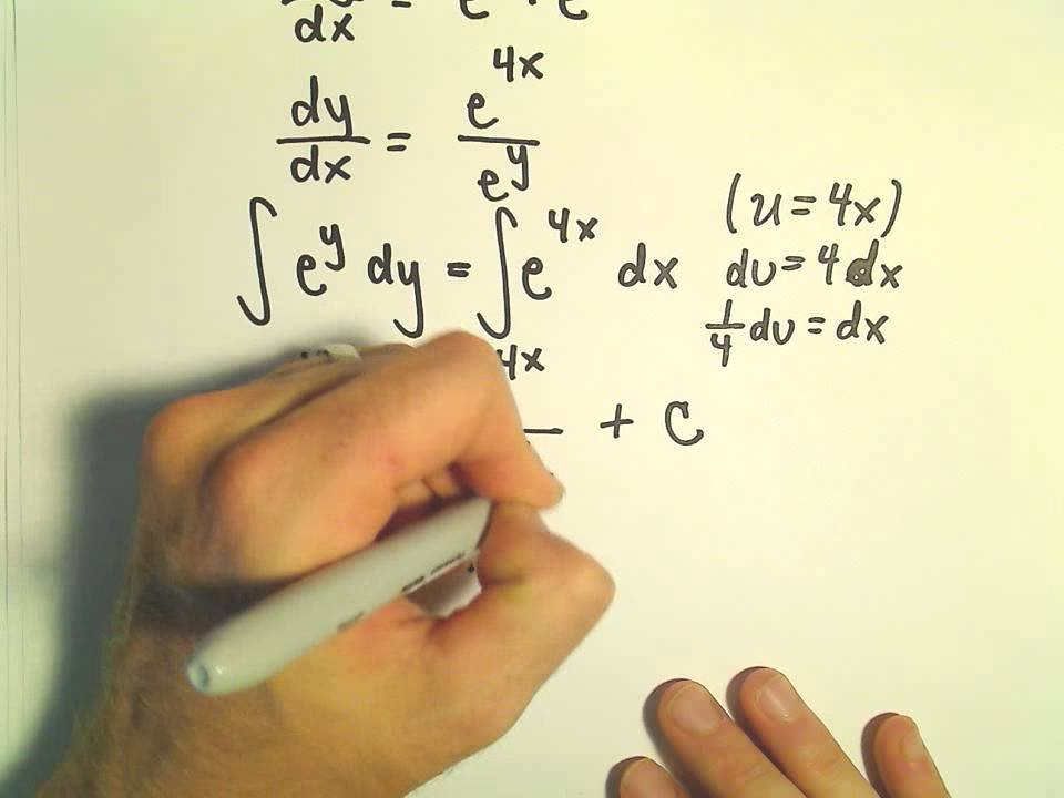 Separable Differential Equations Lessons Tes Teach