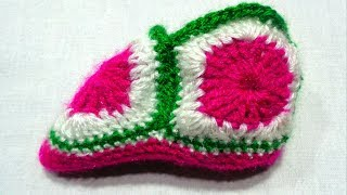 Baby Woolen Shoes By Crochet knitting Pattern | East Tutorial | Fashion & Design | Apoorvi Creation
