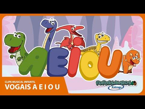 Desenho Animado Fofossauros Vogais A E I O U
