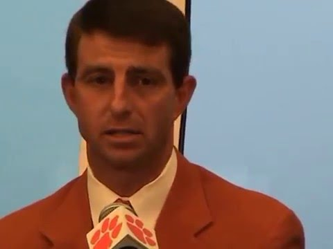 TigerNet.com - Dabo Swinney emotional as he is named Clemson