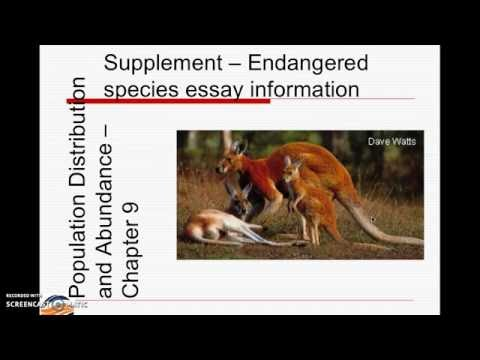 Endangered species Essay Instructions - Fall 2016