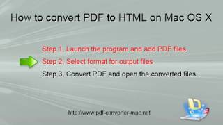 [PDF to HTML] How to Convert PDFs to Web Pages on Mac?