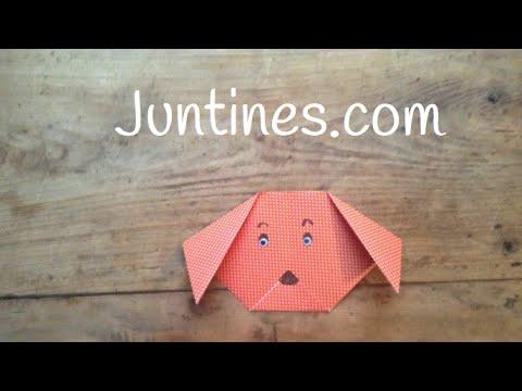Cómo hacer la carita de un perro de origami paso a paso